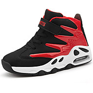 baratos Sapatos de Menina-Para Meninas Sapatos Sintéticos Inverno Conforto Tênis Basquete Cadarço para Infantil / Adolescente Branco / Preto / Preto / Vermelho / Black / azul