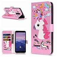 billiga Mobil cases & Skärmskydd-fodral Till Huawei Mate 10 lite / Mate 9 Pro Plånbok / Korthållare / med stativ Fodral Enhörnings Hårt PU läder för Mate 10 / Mate 10 pro / Mate 10 lite
