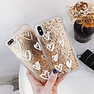 Case For Apple iPhone XR / iPhone XS Max Shockproof / Flowing Liquid / Transparent Back Cover Heart / Glitter Shine Hard PC for iPhone XS / iPhone XR / iPhone XS Max