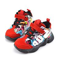 baratos Sapatos de Menino-Para Meninos Sapatos Couro Sintético Outono & inverno Conforto Tênis Caminhada Cadarço para Infantil / Adolescente Preto / Roxo / Vermelho