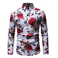 קולור בלוק עסקים / סגנון רחוב חולצה - בגדי ריקוד גברים דפוס