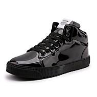 abordables Baskets pour Homme-Homme Chaussures de confort Cuir Verni Printemps été Décontracté Basket Respirable Or / Noir / Argent