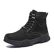 baratos Sapatos Masculinos-Homens Coturnos Couro Inverno Casual Botas Manter Quente Botas Curtas / Ankle Preto / Cinzento / Khaki