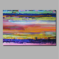 billiga Landskapsmålningar-Hang målad oljemålning HANDMÅLAD - Abstrakt / Landskap Samtida / Moderna Inkludera innerram / Valsad duk / Sträckt kanfas