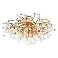 billige Taklamper-QIHengZhaoMing 8-Light Sputnik Flush Mount Lighting Omgivelseslys galvanisert Metall 110-120V / 220-240V Varm Hvit