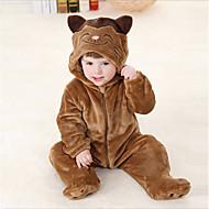 Baby Drenge Ensfarvet Langærmet Overall og jumpsuit