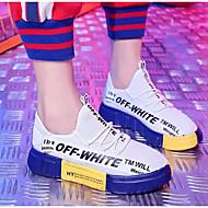 abordables Chaussures de Course Femme-Femme Maille Printemps & Automne Chaussures d'Athlétisme Course à Pied Talon Plat Blanc / Noir / Rouge / Noir / Jaune