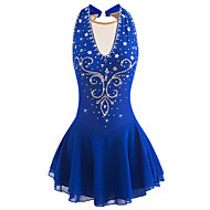 cheap -Figure Skating Dress Women's / Girls' Ice Skating Dress Aquamarine Spandex High Elasticity Competition Skating Wear Handmade Jeweled / Rhinestone Sleeveless Ice Skating / Figure Skating