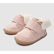 baratos Sapatos de Menino-Para Meninos / Para Meninas Sapatos Pele Inverno Primeiros Passos Tênis Velcro para Bebê Rosa claro / Khaki