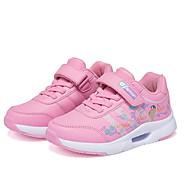tanie Obuwie dziewczęce-Dla dziewczynek Obuwie Syntetyki Zima Wygoda Adidasy Tasiemka na Dzieci Szary / Fioletowy / Różowy / Kolorowy blok