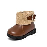 baratos Sapatos de Menino-Para Meninos / Para Meninas Sapatos Pele Inverno Primeiros Passos / Botas da Moda Botas Presilha / Ziper para Bebê Preto / Café
