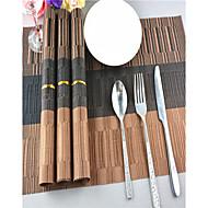 billige Bordduker-Moderne PVC Kvadrat Bordskånere Stripet Borddekorasjoner 1 pcs
