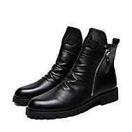 billige Herresko-Herre Militærstøvler Læder Vinter Afslappet Støvler Wear Proof Ankelstøvler Sort