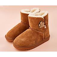baratos Sapatos de Menina-Para Meninas Sapatos Pele Inverno Botas de Neve Botas para Infantil Cinzento / Rosa claro / Camel