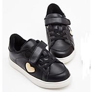 baratos Sapatos de Menina-Para Meninas Sapatos Couro Ecológico Primavera & Outono Conforto Tênis Velcro para Infantil Preto / Rosa claro