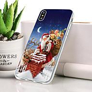 billiga Mobil cases & Skärmskydd-fodral Till Apple iPhone XS Dammtät / Ultratunt Skal Jul Mjukt TPU för iPhone XS