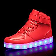 tanie Obuwie chłopięce-Dla chłopców / Dla dziewczynek Obuwie Syntetyki Jesień i zima Świecące buty Adidasy LED na Dzieci / Dla nastolatków Biały / Czarny / Czerwony
