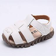 tanie Obuwie chłopięce-Dla chłopców Obuwie Sztuczna skóra Lato Wygoda Sandały na Brzdąc Biały / Czarny / Brązowy