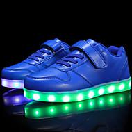 baratos Sapatos de Menina-Para Meninos / Para Meninas Sapatos Couro Ecológico Outono Conforto / Tênis com LED Tênis Cadarço / Colchete / LED para Infantil / Adolescente Vermelho / Azul / Rosa claro