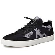 baratos Sapatos Masculinos-Homens Sapatos Confortáveis Jeans Outono Casual Tênis Caminhada Respirável Branco e Preto / Preto / Vermelho