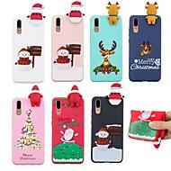 billiga Mobil cases & Skärmskydd-fodral Till Huawei P20 / P20 Pro Mönster Skal Jul Mjukt TPU för Huawei Nova 3i / Huawei P20 / Huawei P20 Pro / P10 Lite / P10