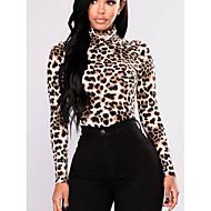T-shirt Per donna Essenziale Leopardata A collo alto Giallo L