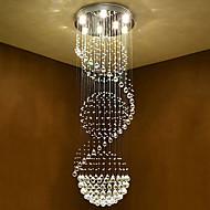 cheap Ceiling Lights-7-Light Crystal Chandelier Downlight Electroplated Metal Crystal, Bulb Included 110-120V / 220-240V Bulb Included / GU10