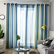 billige Gardiner ogdraperinger-gardiner gardiner Spisestue Stribe / Moderne Polyesterblanding Trykket
