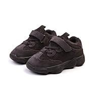 baratos Sapatos de Menina-Para Meninas Sapatos Camurça Primavera & Outono Conforto / Primeiros Passos Tênis Caminhada Velcro para Infantil Branco / Preto