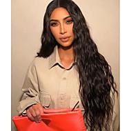 Perruque Lace Front Synthétique Ondulé / Ondulation Naturelle Kardashian Style Coupe Dégradée Lace Frontale Perruque Noir Noir Naturel Marron foncé Cheveux Synthétiques 26 pouce Femme Doux / Oui