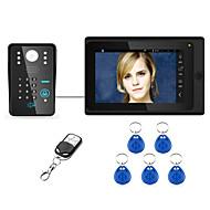 7inch Wired / Wireless Wifi RFID Password Video Door Phone Doorbell Intercom  System upport Remote APP unlocking Recording Snapshot