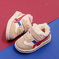 baratos Sapatos de Menino-Para Meninos / Para Meninas Sapatos Couro Ecológico Outono & inverno Conforto Tênis Elástico / Velcro para Infantil / Bébé Preto / Bege / Rosa claro