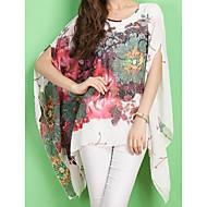 여성용 플로럴 대형 가오리핏 프린트 - 블라우스, 스트리트 쉬크 블랙 원사이즈 / 봄 / 여름