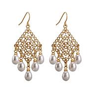 Χαμηλού Κόστους Κοσμήματα για Γάμο & Πάρτι-Γυναικεία Μακρύ Κρίκοι - Μαργαριτάρι Κοσμήματα Χρυσό Για Γάμου Καθημερινά / 1 Pair