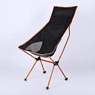 Sille plegable para camping Al aire libre Ligero Doblez Aluminio 7075 para 1 Camping Viaje - Naranja Rojo Azul Oscuro