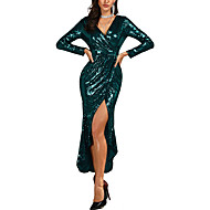 בתולת ים \ חצוצרה צווארון V באורך הקרסול נצנצים ערב רישמי שמלה עם נצנצים על ידי LAN TING Express