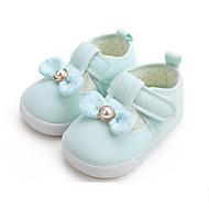 baratos Sapatos de Menina-Para Meninos / Para Meninas Sapatos Algodão Verão Primeiros Passos Tênis Velcro para Bebê Azul Claro / Rosa Claro / Verde Claro