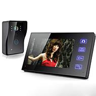 billige Dørtelefonssystem med video-Trådløs 7 tommers lcd berøringsskjerm telefon intercom video dør doorbell hjem sikkerhet kamera skjerm