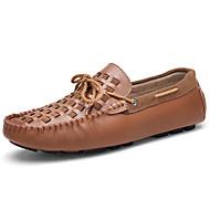 baratos Sapatos Masculinos-Homens Mocassim Pele Primavera & Outono Casual / Formais Sapatos de Barco Massgem Marron / Azul / Vinho