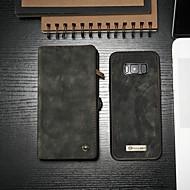 billiga Mobil cases & Skärmskydd-CaseMe fodral Till Samsung Galaxy S8 Plånbok / Korthållare / med stativ Fodral Enfärgad Hårt PU läder för S8