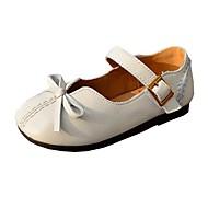 baratos Sapatos de Menina-Para Meninas Sapatos Pele Primavera & Outono Conforto / Sapatos para Daminhas de Honra Rasos Laço / Botão para Infantil Preto / Bege