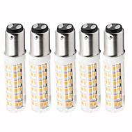 billige Kornpærer med LED-5pcs 4.5 W 450 lm BA15d LED-kornpærer T 76 LED perler SMD 2835 Mulighet for demping Varm hvit / Kjølig hvit 220 V