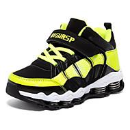 baratos Sapatos de Menino-Para Meninos Sapatos Sintéticos Inverno Conforto Tênis Velcro para Infantil Preto / Vermelho / Preto / verde / Black / azul / Estampa Colorida