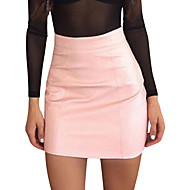 Women's Going out Mini Bodycon Skirts - Solid Colored High Waist