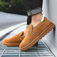 tanie Obuwie męskie-Męskie Komfortowe buty Sztuczna skóra Zima Casual Botki Zatrzymujący ciepło Szary / Żółty / Khaki