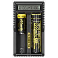 billige Lommelykter & campinglykter-Nitecore UM20 Batterilader til Li-ion Smart, USB, LCD, Kretsdeteksjon, Beskyttet krets 18650,18490,18350,17670,17500,16340(RCR123), 14500,10440