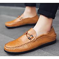 tanie Obuwie męskie-Męskie Komfortowe buty Mikrowłókno Wiosna i jesień Mokasyny i buty wsuwane Czarny / Żółty / Brązowy
