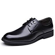 baratos Sapatos Masculinos-Homens Sapatos Confortáveis Couro Ecológico Inverno Oxfords Preto