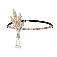 The Great Gatsby 1920s Vintage Inspired The Great Gatsby Costume Women's Headpiece Flapper Headband Head Jewelry White / Black / Golden Vintage Cosplay