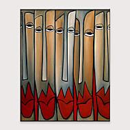 billiga Människomålningar-Hang målad oljemålning HANDMÅLAD - Abstrakt Människor Klassisk Moderna Utan innerram / Valsad duk